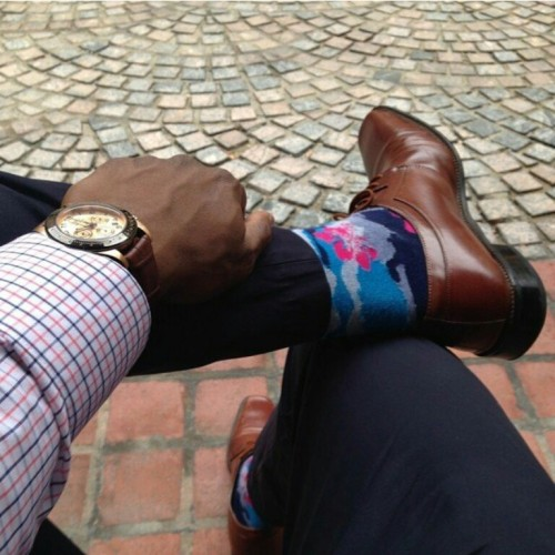 Floral camo or Hawaiian, these socks are bound to get a second look, @racasey