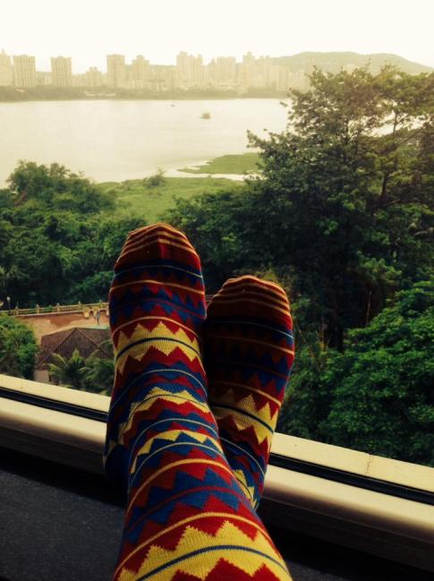 Aztec Print from @happysocks, @Dezinedemon / Shaiz Charanya