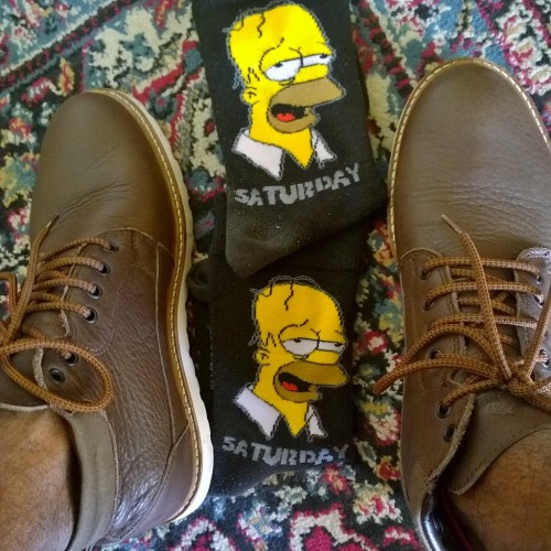 Exactly how you should spend your Saturdays, Knackered! Homer Simpson socks from Jack and Jones, @varunasingh / Varuna Singh