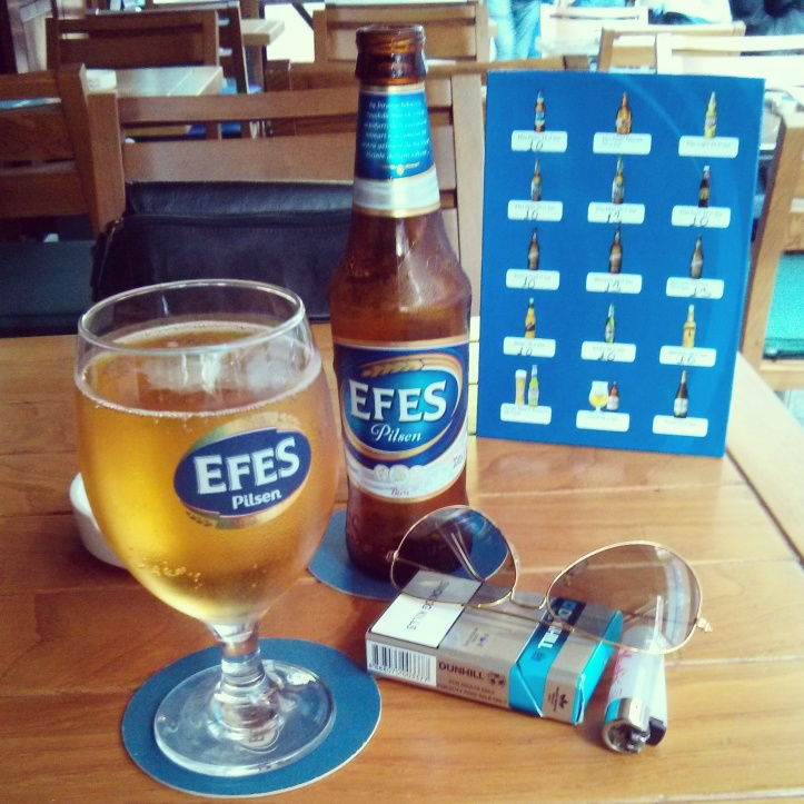 Efes Pilsner is a local brew. Quite quenching in the peak of summer that we faced.