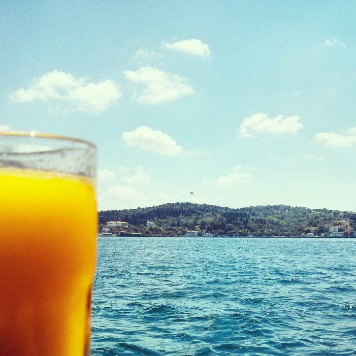 Orange Juice to quench the thirst for another vacation. It did not really work.