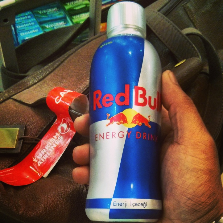 Red Bull for an early start. When it looks like this, you can't possibly stop at one!