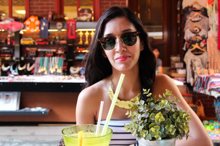 Limonata is a renowned refresher in Turkey, especially in Summer. On Sheral - Neckpiece by Forever 21, Shades Clubmaster by RayBan, Nautical tube by Fishbone