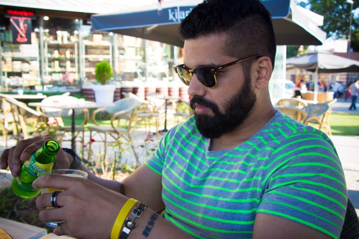 Remember that bit about Limonata? On Al - Bracelet from the Ortakoy Market, Clubmasters by RayBan, Tee by Tom Tailor.