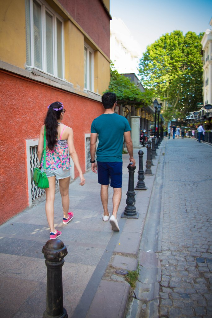 Walking down the many beautiful streets of Istanbul
