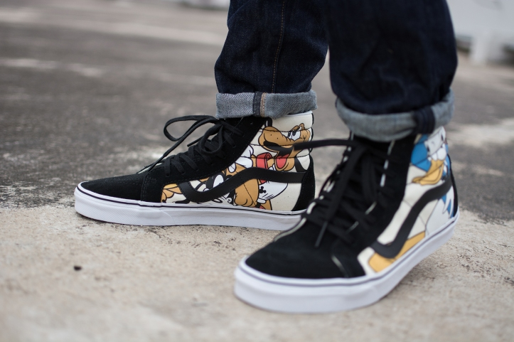 We Used To Be Friends – Disney Vans Sk8 Hi Re-issue – bowties and bones d188bf6848