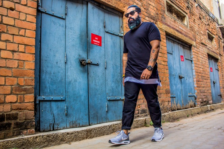 Nike Air Max Tavas Street Style Indian Blogger