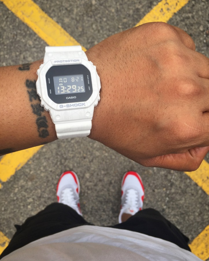G Shock White Retro DW5600