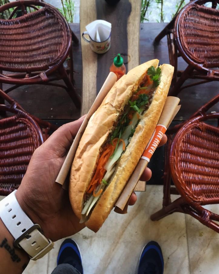 A Banh Mi Sandwich in vietnam