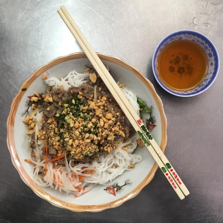 Bun Thit Bo meal in Hanoi