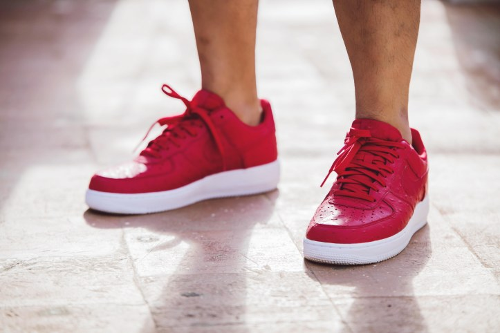 Air Force 1 LV8 Ostrich Leather Red