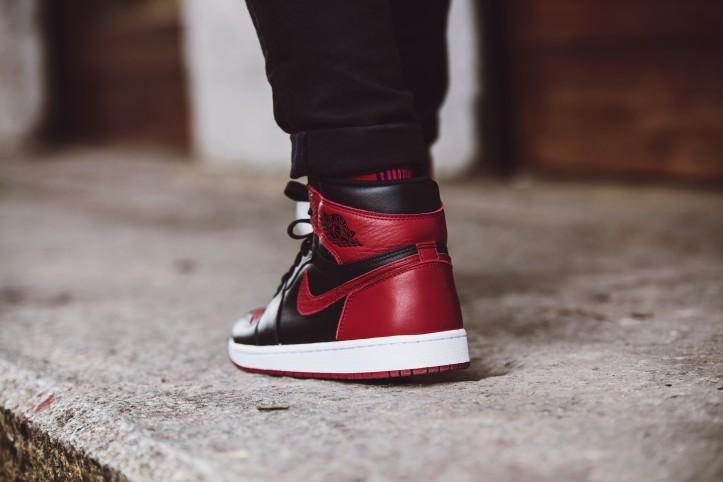 Nike Air Jordan 1 Bred Up Close And Review Bowties And