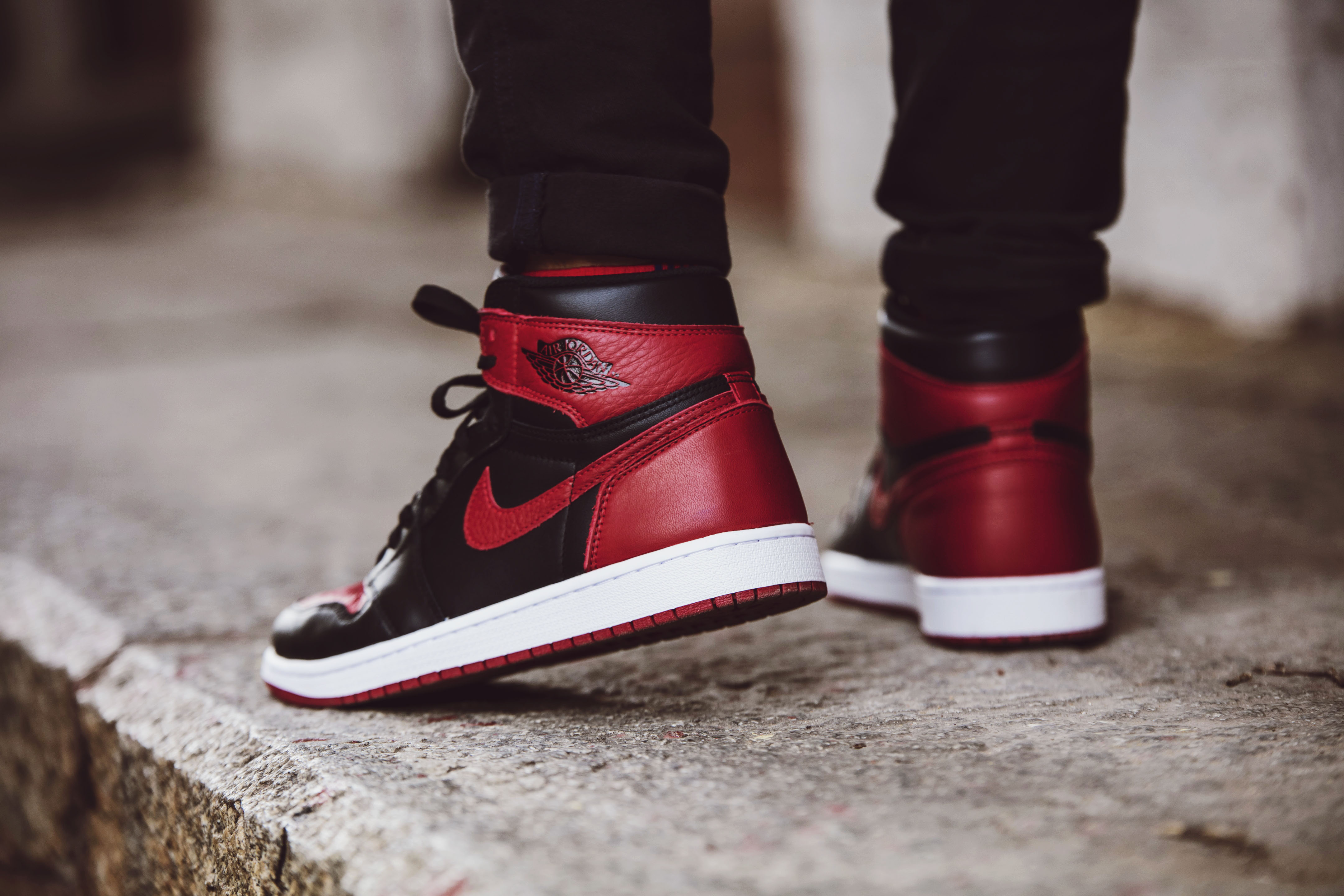 super popular 69718 7643a Nike Air Jordan 1 Bred – Up Close and Review | bowties and bones