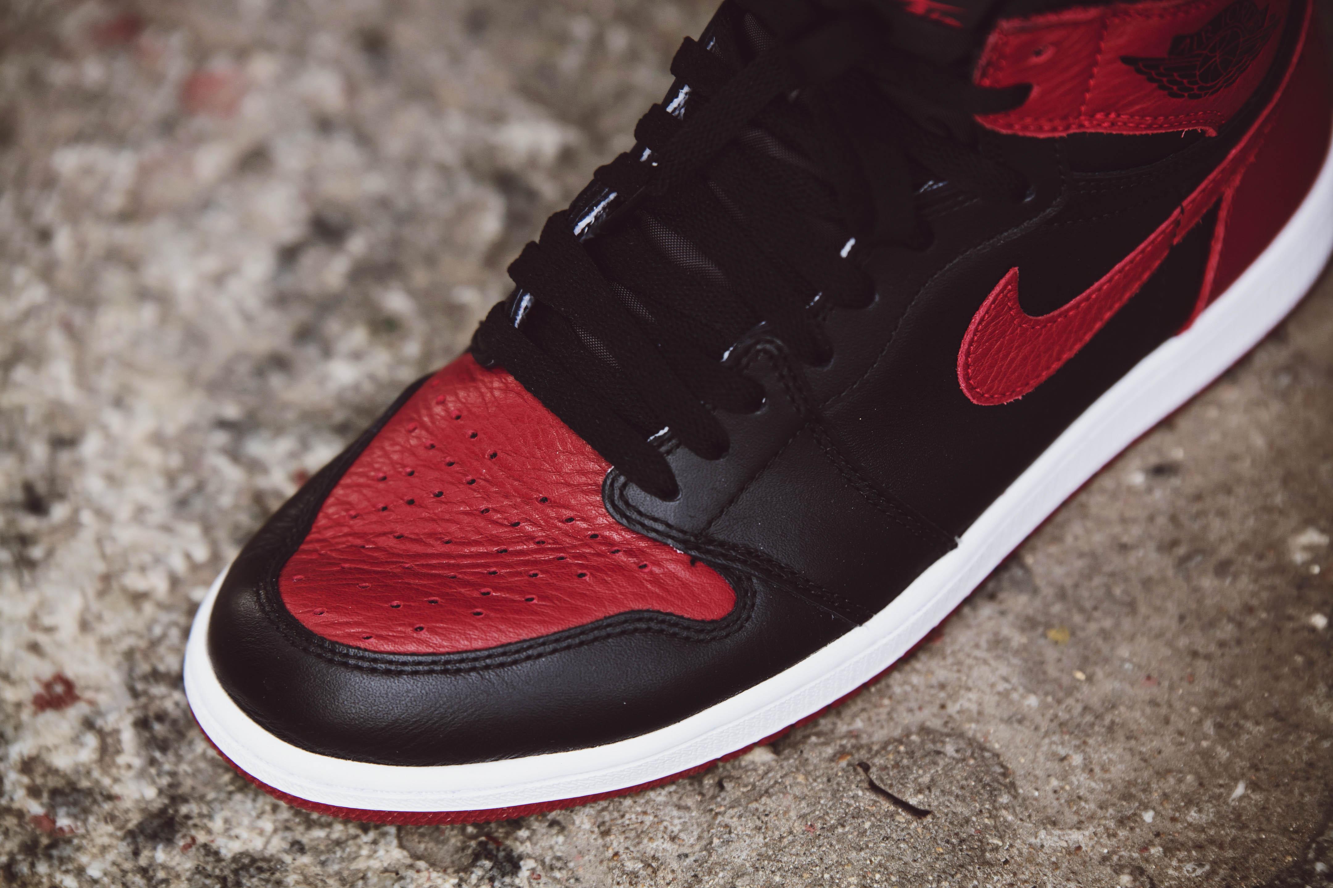 Nike Air Jordan 1 Bred – Up Close and