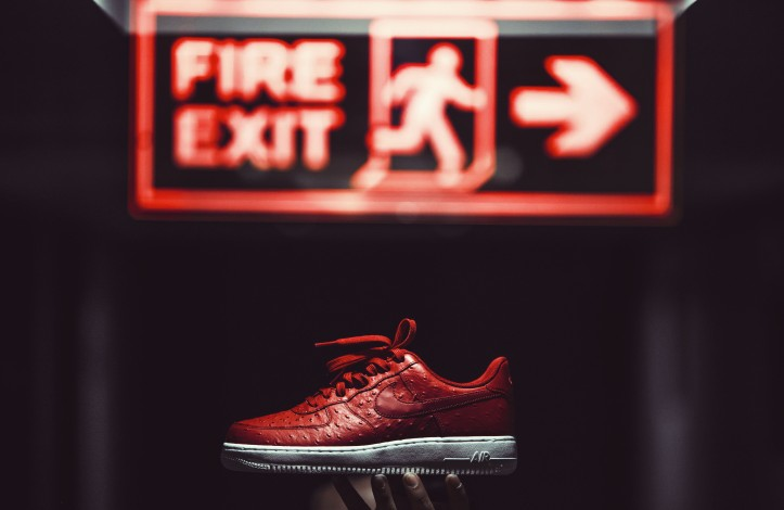 Nike Air Force 1 Red Ostrich