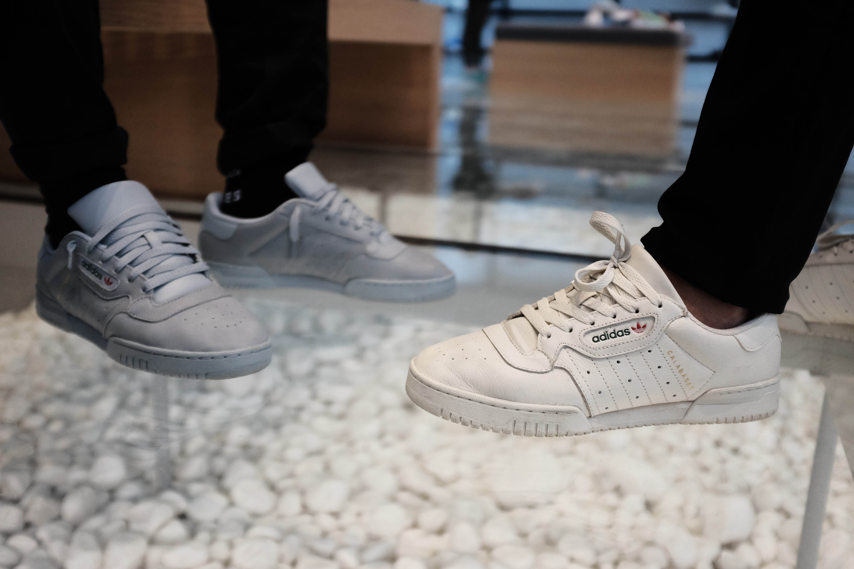 On Feet Adidas Yeezy Powerphase Black
