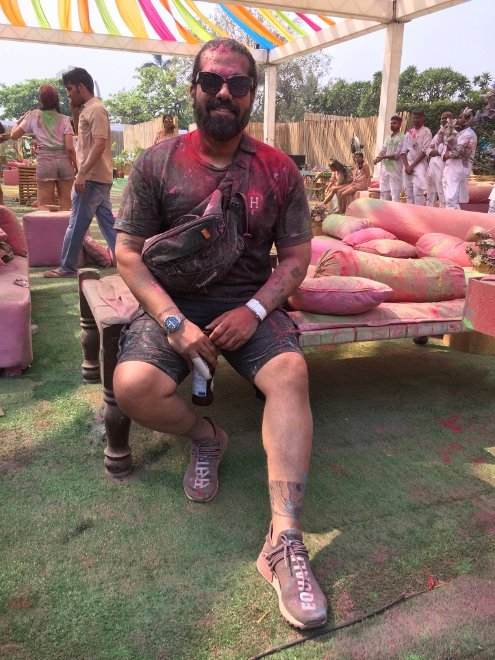 Wearing Streetwear to a Holi Party