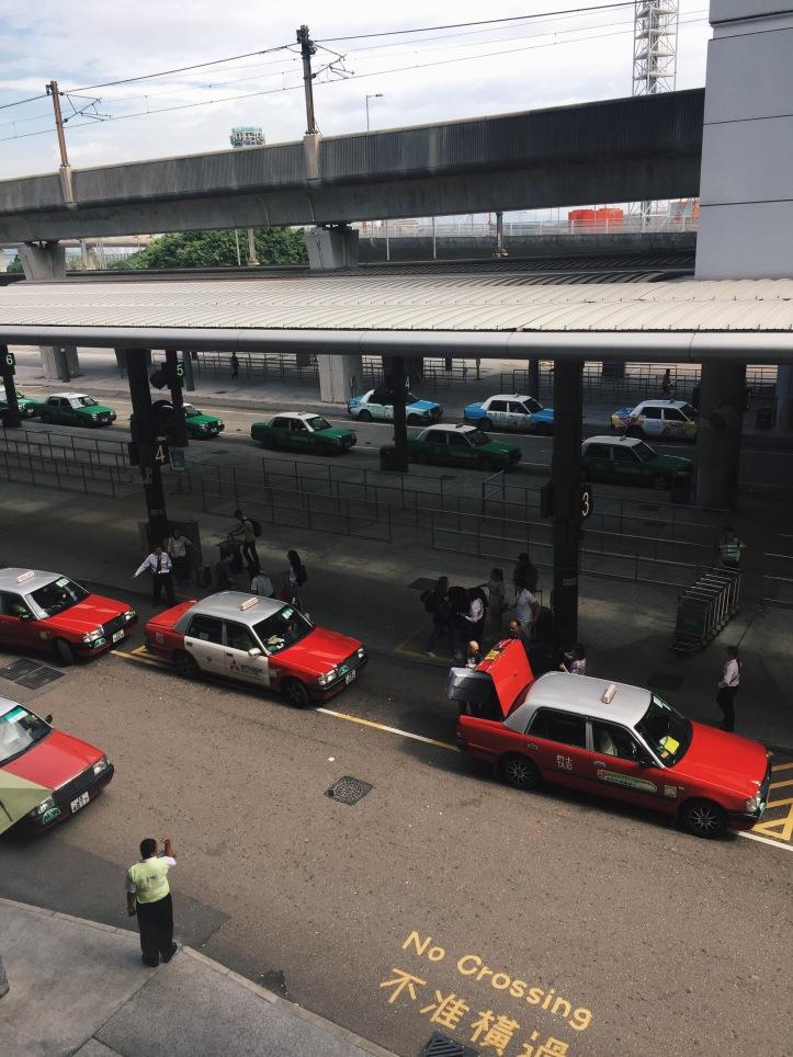Cabs in Hong Kong