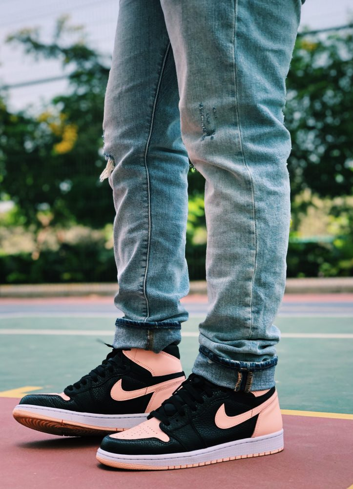 Pink Air Jordan Sneakers 1