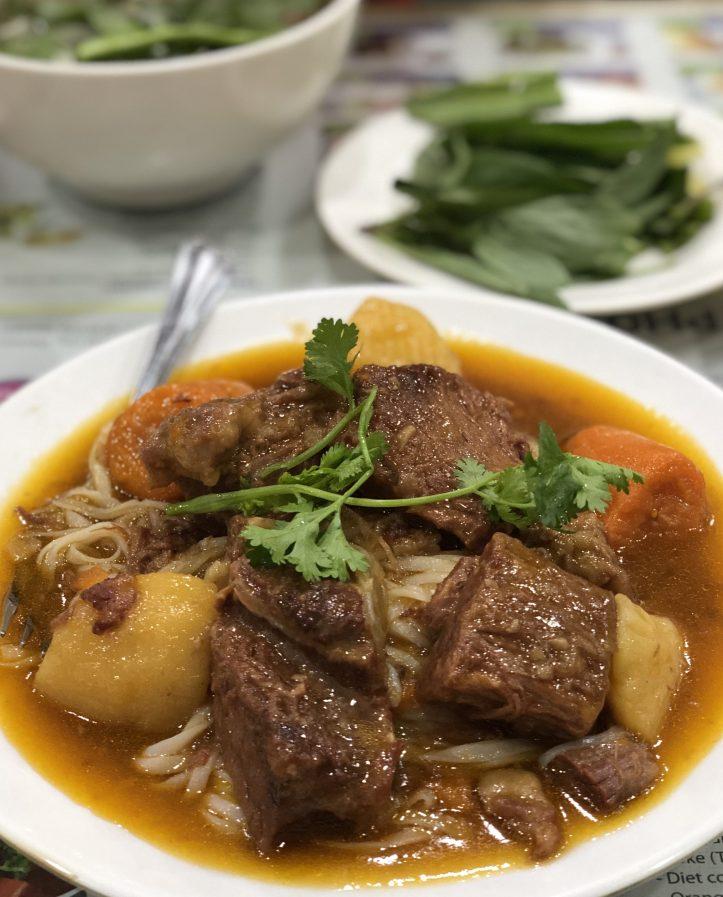 Famous Pho in Vietnam
