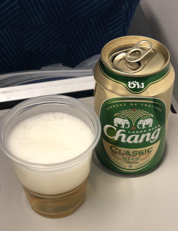 Chang Beer on Bangkok Airlines