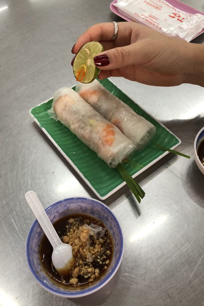 Rice Rolls in Vietnam