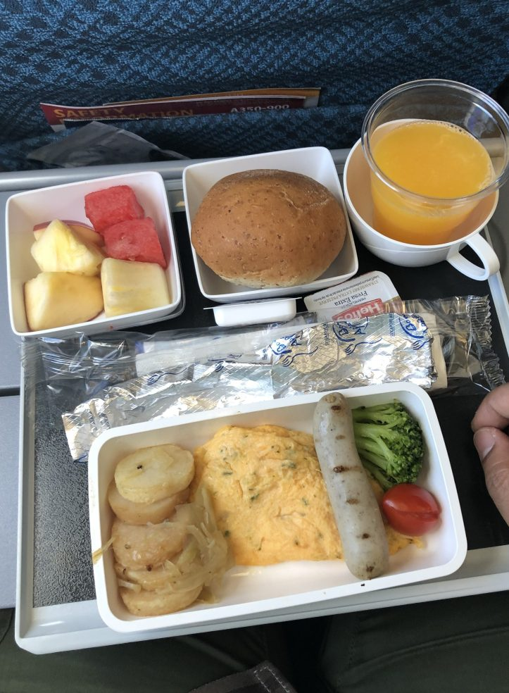 In flight meals Singapore Airlines